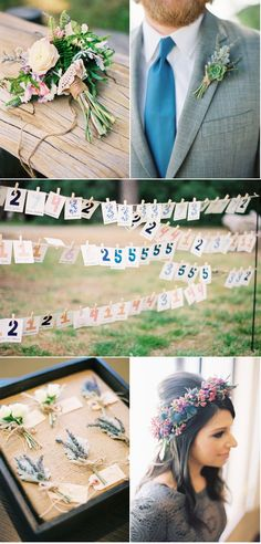 i like the idea of putting the name on one side and the table number on the other!