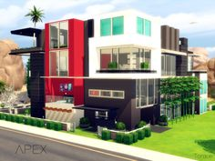 APEX is an ultra modern, towering building with four floors, it is modern/contemporary furnished and decorated, its rooms have splashes of vibrant colors, it features a pool with glass walls, two...