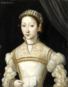Attributed to Corneille de Lyon (fl.1533-1575) —   Anne de Pisseleu (1508–1576), Duchesse d'Étampes  (548x700)