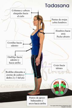 Postura de yoga Tadasana paso a paso para buena alineación