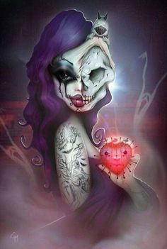 I want a tattoo like this of myself. Pretty and normal on one side and dying on the other....how I feel on most days