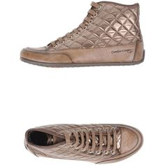 Candice Cooper Sneakers (310 SGD) ❤ liked on Polyvore featuring shoes, sneakers, khaki, leather sneakers, rubber sole shoes, leather flat shoes, real leather shoes and leather shoes