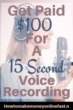 If you have a good voice and the right equipment you could make a great living with this site Ways To Earn Money, Earn Money From Home, Earn Money Online, Online Jobs, Way To Make Money, Quick Money, Work From Home Companies, Work From Home Opportunities, Legit Work From Home