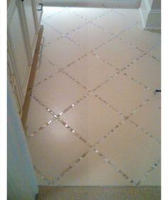 Glass Tiles Instead Of Grout In The Bathroom Tile Floor | DIY Home Decor Ideas on a Budget | Click for Tutorial | DIY Home Decorating on a Budget by Hasenfeffer #cheaphomedecor