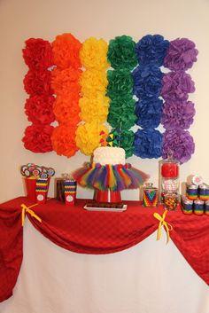 "Photo 1 of 17: Rainbow / Birthday ""Charlotte's Rainbow Party!"" | Catch My Party"