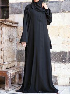 One-Piece Abaya and Prayer Outfit Hijab Fashion 2016, Niqab Fashion, Muslim Fashion, Burqa Designs, Abaya Designs, Mode Abaya, Hijab Gown, Mode Style, The Dress