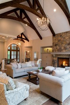 Love the wood beams