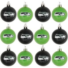 Seattle Seahawks Christmas Ball Ornament 12 Pack by Forever Collectibles