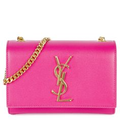 YSL                                                                                                                                                Hirshleifers Monogram Crossbody in Fuchsia and Gold                                                                                                                   ✤HAND'me.the'BAG✤