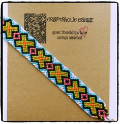 Woven Friendship Bracelet  X's & O's by CraftaholicCarrie on Etsy