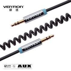 Vention Top selling products AUX cable  3.5mm to 3.5mm Spring audio cable retractable aux audio cable for car   Only $5.60