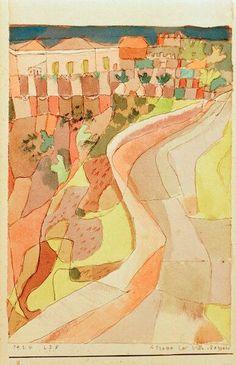 Paul Klee「Strasse bei Villa Mazzaro」(1924)