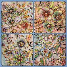 Spring Blooms And Birdie Springtimecoloralong Ritaberman