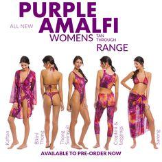 Kiniki Amalfi Purple Tan Through Swim Micro Brief Swimwear