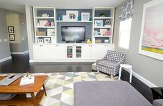 Living Room Built Ins, Ikea Living Room, Living Room Shelves, Living Rooms, Ikea Bedroom, Ikea Entertainment Center, Entertainment Products, Decorating Your Home, Diy Home Decor