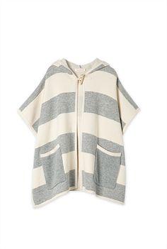 Stripe Knit Cape - Cedar