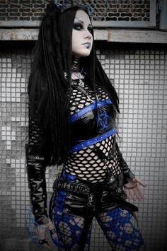 Cyber Goth PVC schwarz Shorts von BarbedVirgin auf Etsy