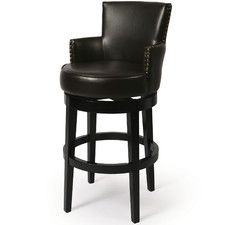 "Zadar 25.75"" Swivel Bar Stool with Cushion"