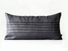 Lumbar pillow with decorative sewn lines - grey decorative covers - pillow case…