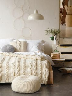 10 Radiant Clever Ideas: Minimalist Home Storage Living Rooms minimalist bedroom wall grey.Minimalist Home Storage Living Rooms minimalist decor diy clothes. Cable Knit Blankets, Cozy Blankets, Crochet Blankets, Master Bedroom, Bedroom Decor, White Bedroom, Bedroom Ideas, Bedroom Designs, Bedroom Inspiration