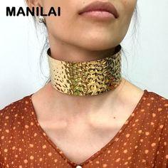 Bildergebnis für wide metal choker necklace torque