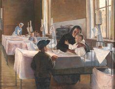 """Cirugía en el hospital (""""Surgery in hospital""""). Anna Sahlsten. 1893. Localización: EMMA - Espoo Museum of Modern Art (Finlandia). https://painthealth.wordpress.com/2016/04/13/cirugia-en-el-hospital/"""