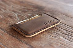 PERSONALIZED WALLET - Front Pocket Double Sleeve Wallet - Great Gift Ideas for Him/Her - 039