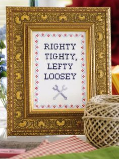 Free Downloadable Subversive Cross Stitch Pattern: If you've ever wanted to try cross-stitch, let this important message be your starting point. . From DIYnetwork.com