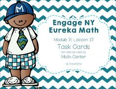These math centers follow the lessons from Engage NY/Eureka Math.I wanted a hands-on approach to go with my lessons. 6-7-16I've added a QR code so student can check their own work.I've added as Task Card-Sized ~~ Title, Directions, and Answers Cards. I've also added a white background set to save on ink!Please download preview to see what is included!