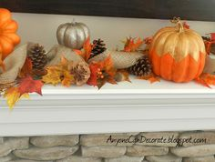 Anyone Can Decorate: Fall Mantle Decor
