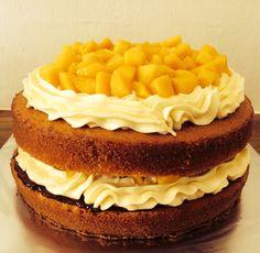 Mango Marmalade Cream Cheese Sandwich Cake