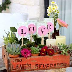Soda Crate Floral Arrangement