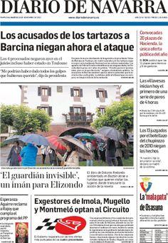 Los Titulares y Portadas de Noticias Destacadas Españolas del 19 de Noviembre de 2013 del Diario De Navarra ¿Que le pareció esta Portada de este Diario Español?