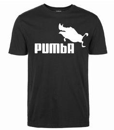 Cute Funny Humor Black Printed T-Shirt Men O-Neck Cotton Casual Fashion Pumba by…