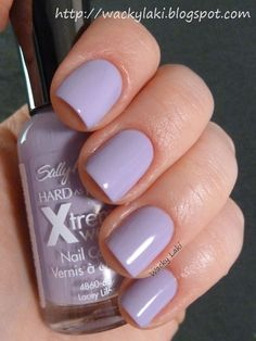 Sally Hansen Xtreme Wear Lacey Lilac: looks super pretty on pale skin. I have used this countless times, its my go-to polish.
