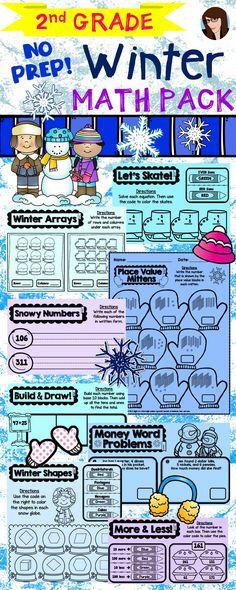 Spring No Prep Math - 1st Grade | Math, Common core math standards ...