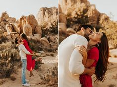 Jul 2019 - This engagement shoot at Joshua Tree National Park was warm, carefree, playful, and got me so inspired! Danielle and Jimmy were more gorgeous than the park! Funny Engagement Photos, Country Engagement Pictures, Engagement Photo Poses, Couple Photoshoot Poses, Couple Photography Poses, Couple Shoot, Pre Wedding Poses, Pre Wedding Photoshoot, Joshua Tree Wedding