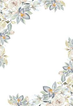 Gold Wallpaper Background, Framed Wallpaper, Flower Phone Wallpaper, Cute Wallpaper Backgrounds, Flower Backgrounds, Flower Invitation, Wedding Invitation Templates, Floral Wedding Invitations, Flower Graphic Design