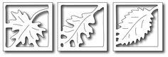 Frantic Stamper - Precision Dies - Mix 'N Match - Leaf Windows (set of 3),$12.99