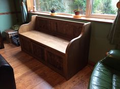 5ft Rustic Style Window Seat/Bench/Settle/Pew with Storage (MADE TO ANY SIZE) in…