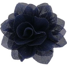 Navy Crinkle Flower Corsage ($16) ❤ liked on Polyvore