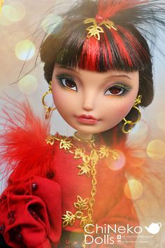 Custom Monster High Doll OOAK Cardinalis cardinalis Ever
