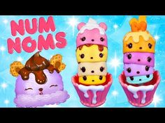Num Noms! Brand new toys by Lalaloopsy! Ice Cream & Cupcake Party Packs Coming Soon Play Doh Cake - YouTube