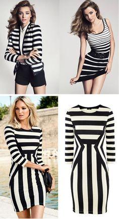 looks moda blanco y negro rayas