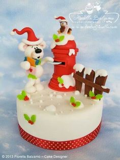 Cute Christmas Bear Cake