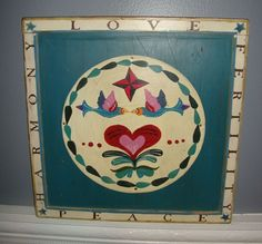 Jim Shore Heartwood Creek Wall Plaque - 2004 Harmony, Love, Fertility, Peace
