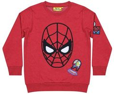 FFSM63 Spider-man Applique Face Badge Sweatshirt
