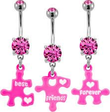 best friends belly button rings - Google Search