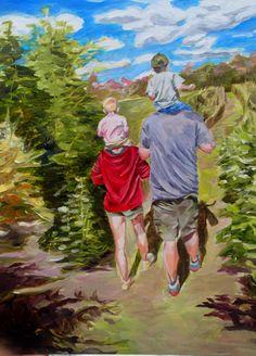 """Up on the Shoulders"", an 9"" x 12"" oil by Lauren Kuhn. Follow me on Facebook: Art by Lauren Kuhn"