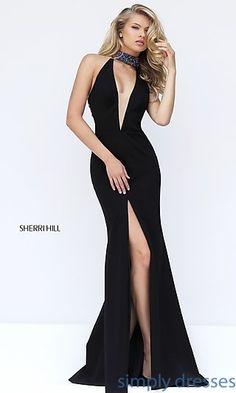 0f70097bc2c Sherri Hill Long Black Prom Dress Prom Dresses 2017